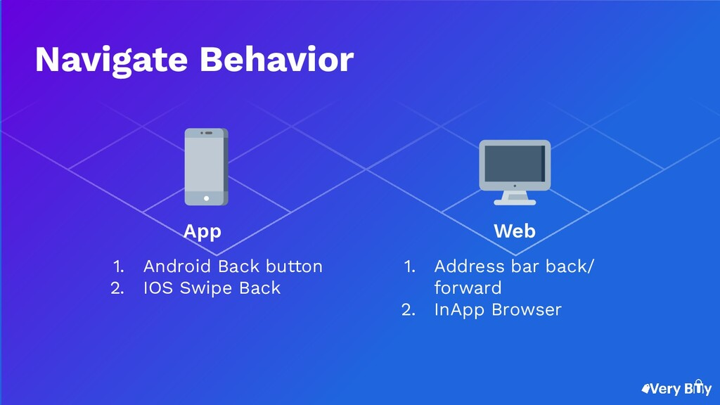 1. Android Back button 2. IOS Swipe Back 1. Add...