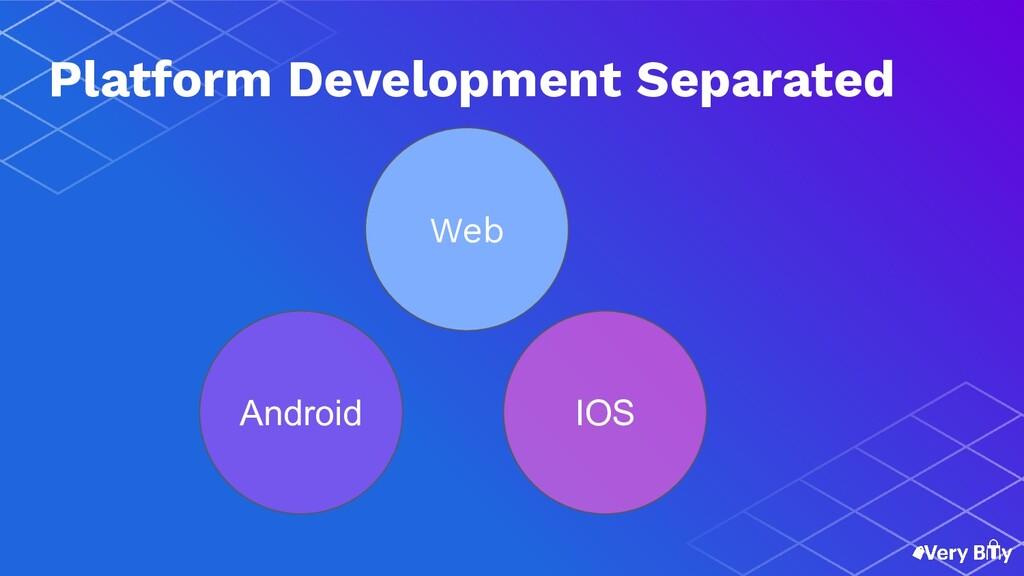 Web Android IOS Platform Development Separated