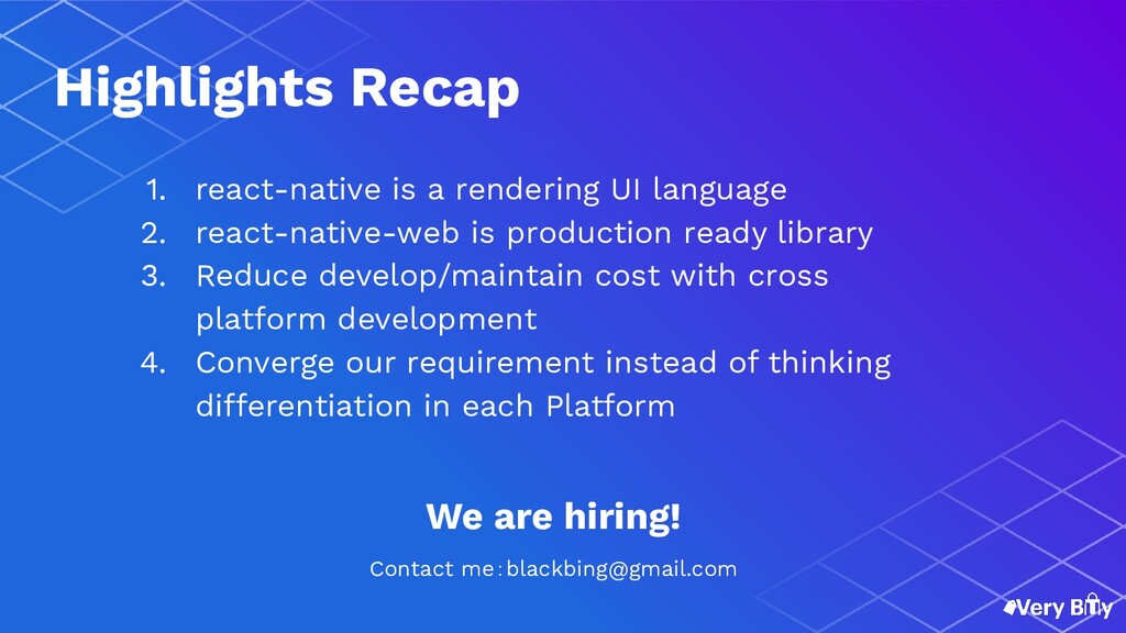 1. react-native is a rendering UI language 2. r...