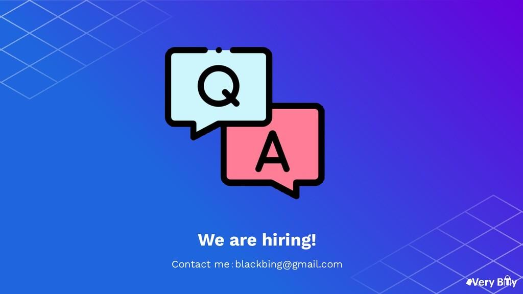 Contact me:blackbing@gmail.com We are hiring!