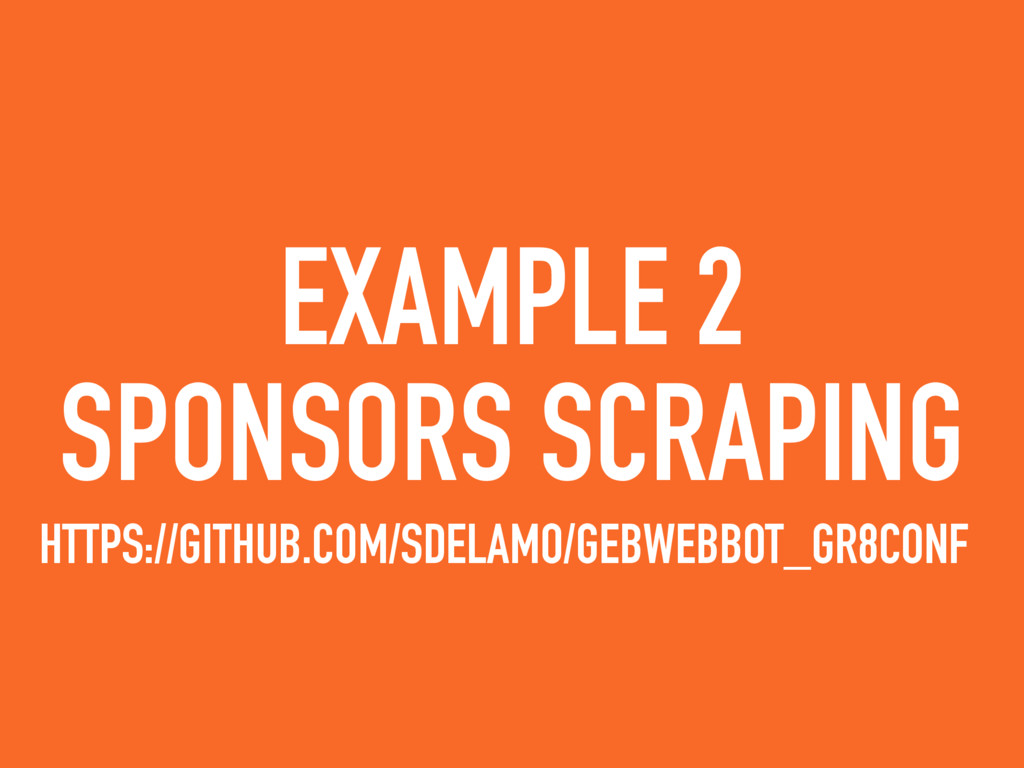 EXAMPLE 2 SPONSORS SCRAPING HTTPS://GITHUB.COM/...