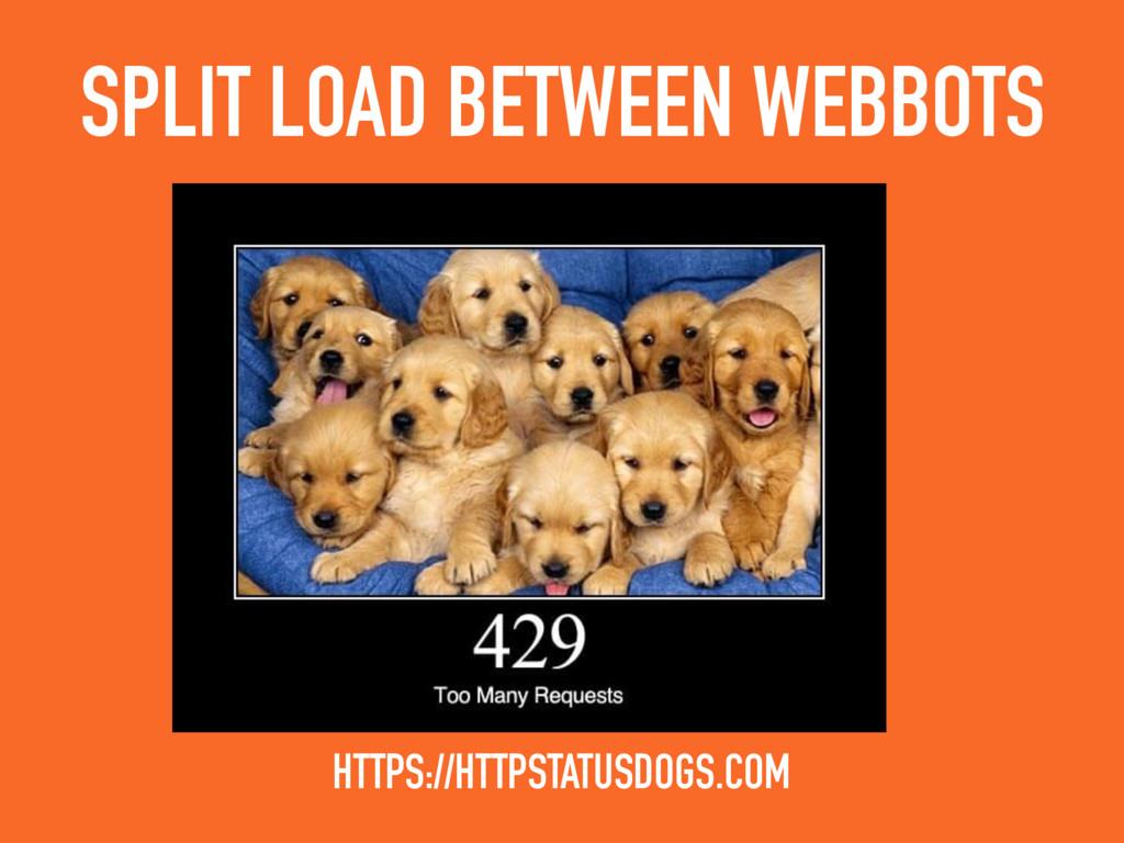 SPLIT LOAD BETWEEN WEBBOTS HTTPS://HTTPSTATUSDO...
