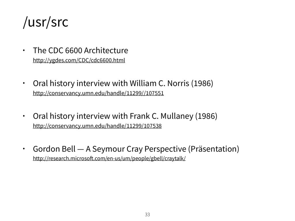 /usr/src • The CDC 6600 Architecture