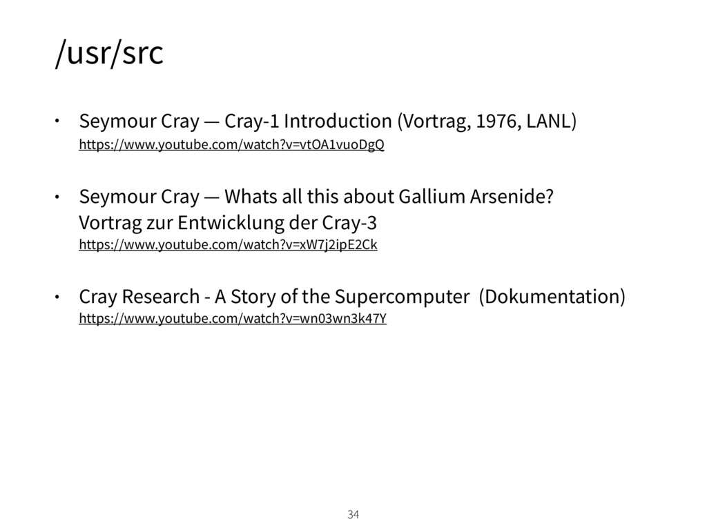 /usr/src • Seymour Cray — Cray-1 Introduction (...