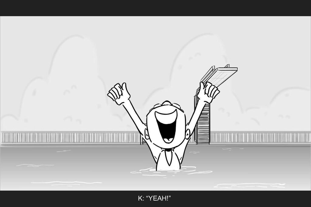 "K: ""YEAH!"""