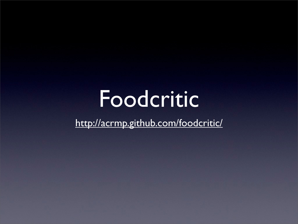 Foodcritic http://acrmp.github.com/foodcritic/