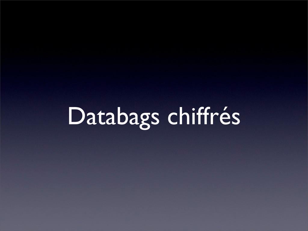 Databags chiffrés
