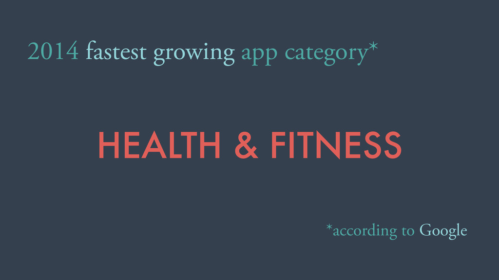 2014 fastest growing app category* *according t...