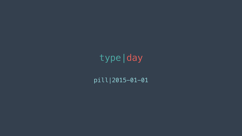 type|day pill|2015-01-01