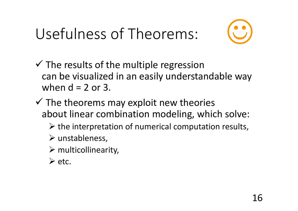 Usefulness of Theorems: ü The results of the mu...