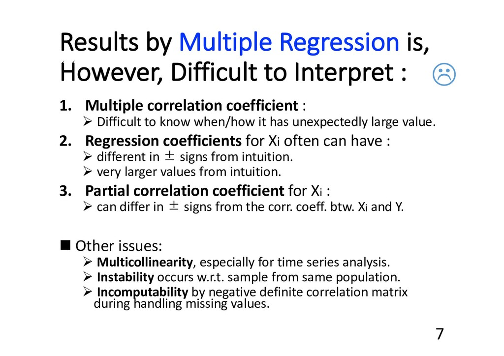 Results by Multiple Regression is, However, Dif...