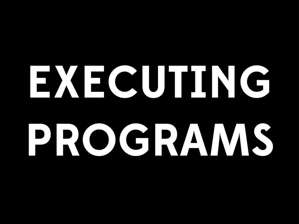 EXECUTING PROGRAMS