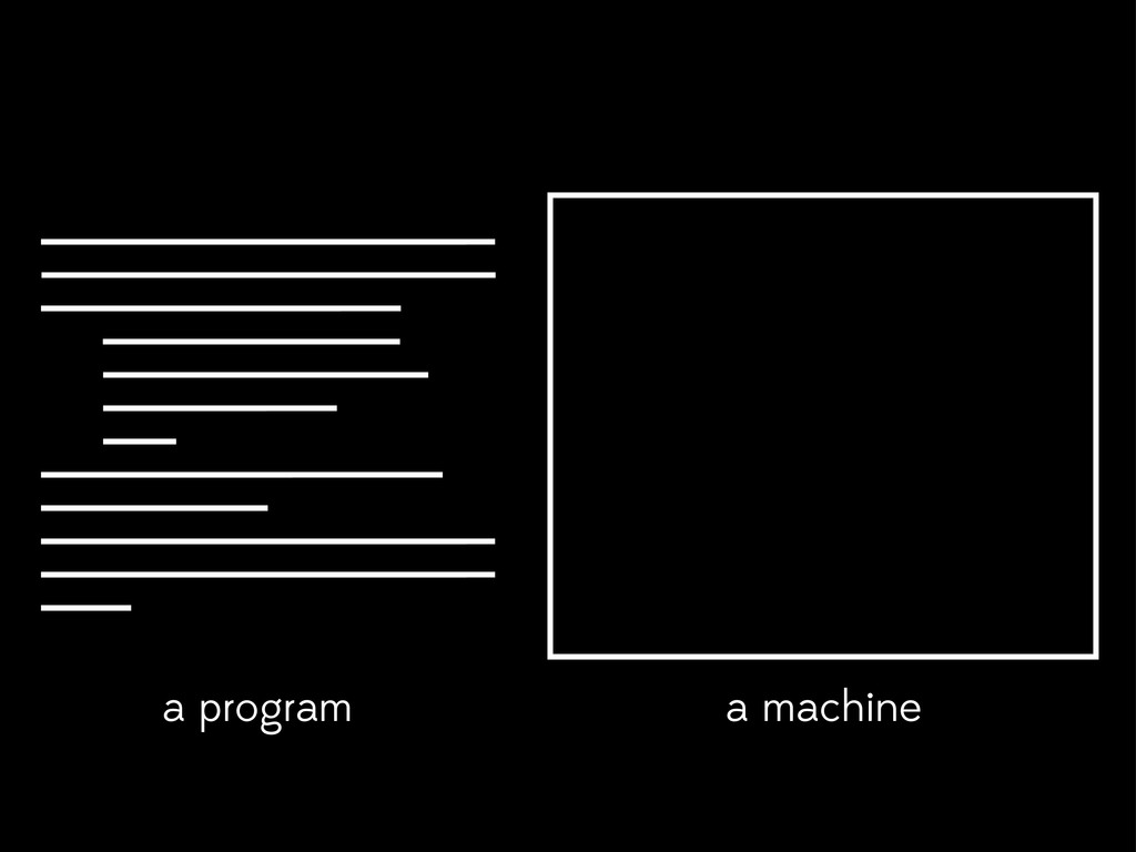 a program a machine