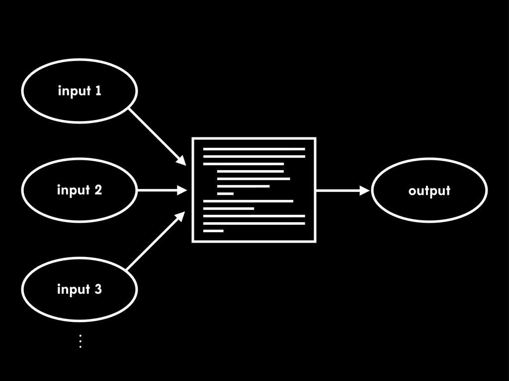 input 1 input 2 output input 3 ⋮