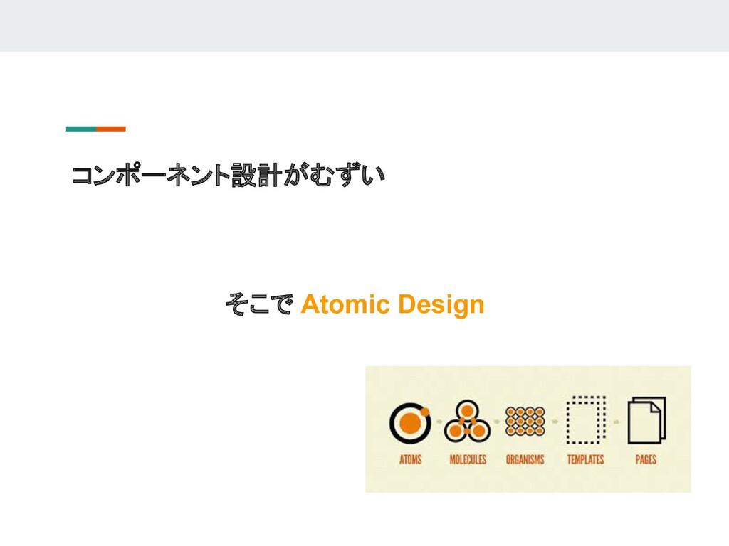 コンポーネント設計がむずい そこで Atomic Design