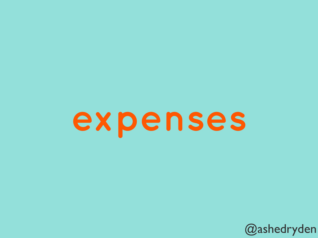@ashedryden expenses
