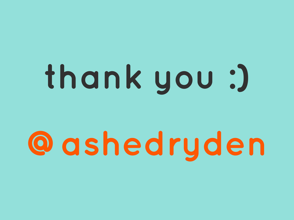 @ashedryden thank you :) @ashedryden
