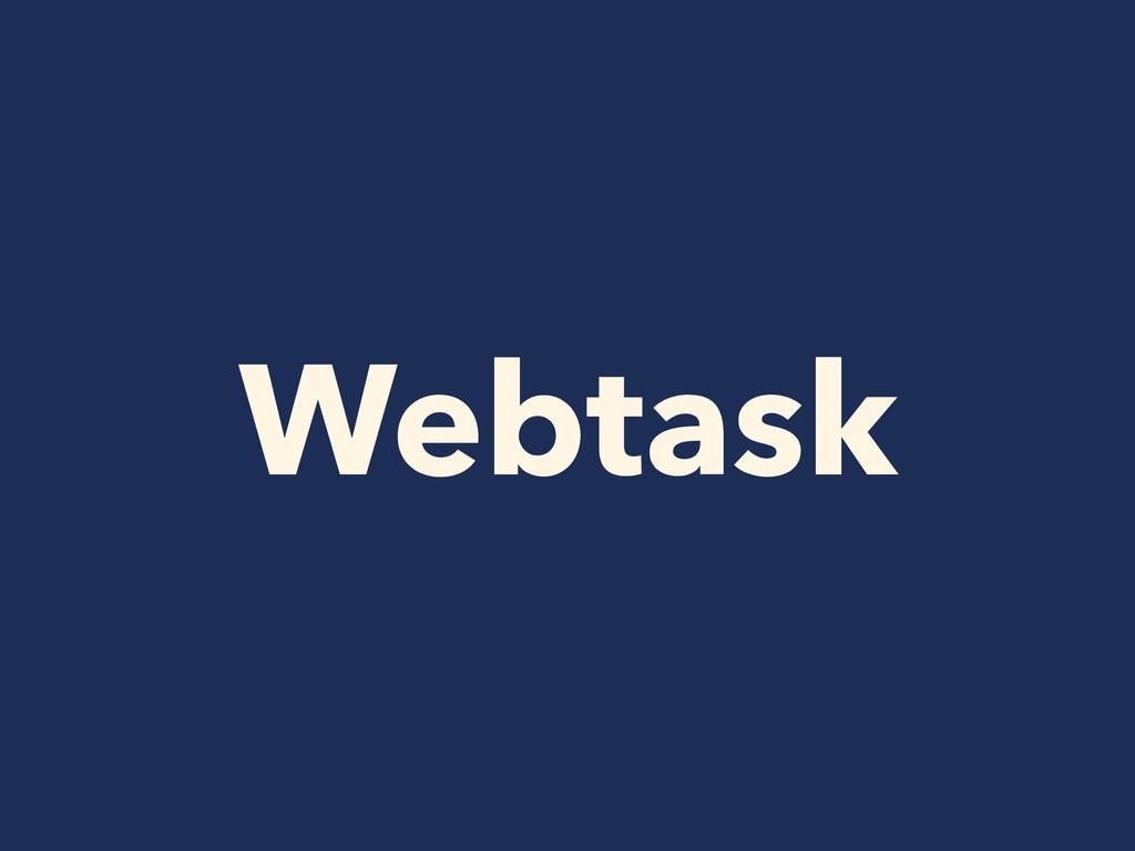 Webtask