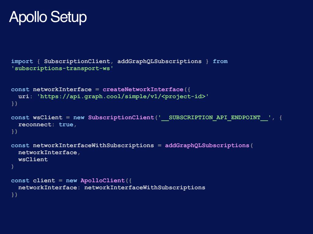 import { SubscriptionClient, addGraphQLSubscrip...