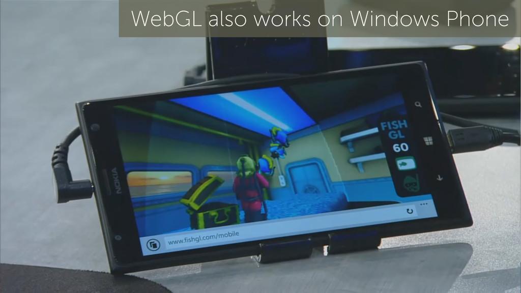 19 WebGL also works on Windows Phone