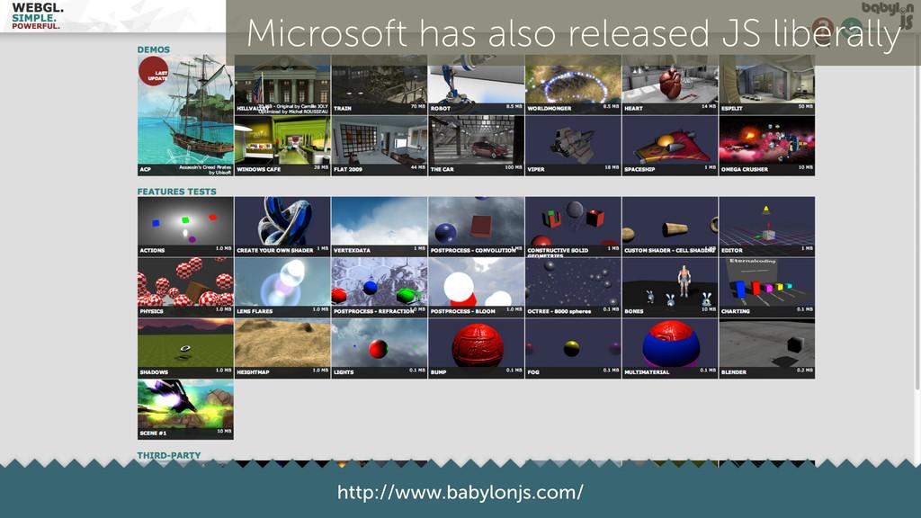 28 http://www.babylonjs.com/ Microsoft has also...
