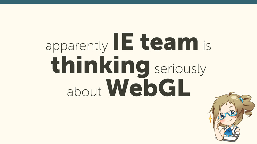 apparently IE team is thinking seriously abou...