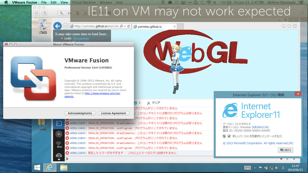 43 IE11 on VM may not work expected