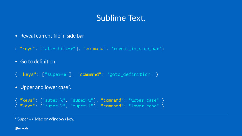 Sublime Text. • Reveal current file in side bar ...