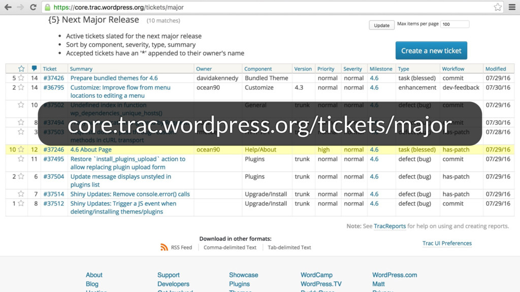 core.trac.wordpress.org/tickets/major