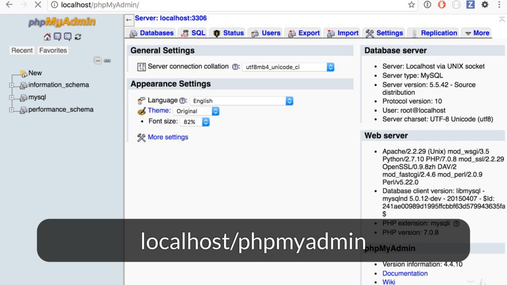 localhost/phpmyadmin
