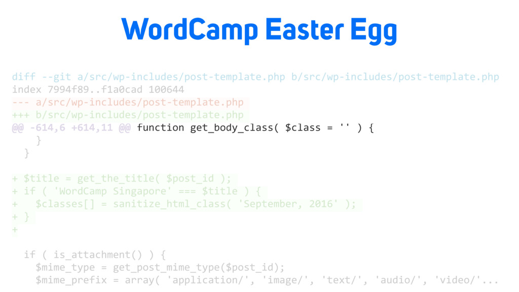 WordCamp Easter Egg diff --git a/src/wp-include...