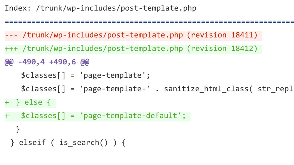 } else { $classes[] = 'page-template-default'; ...