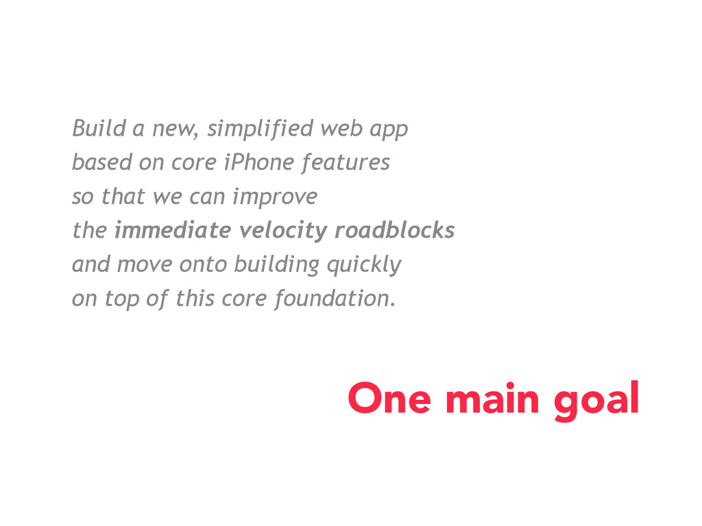 Build a new, simplified web app based on core i...