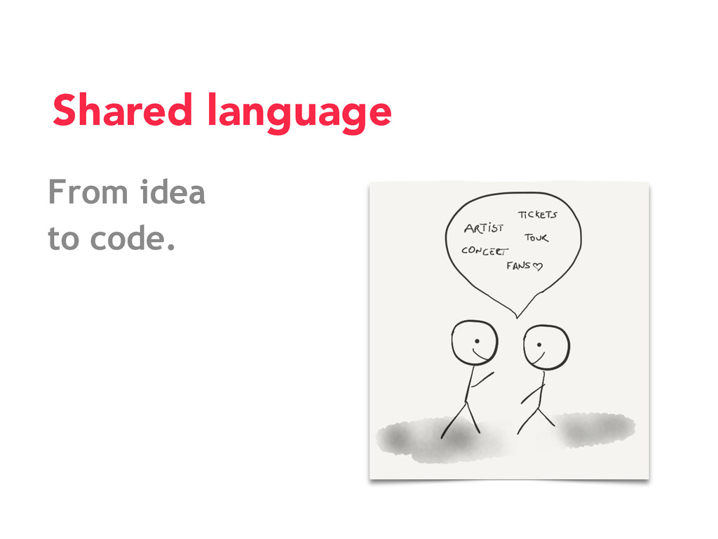 From idea to code. Shared language