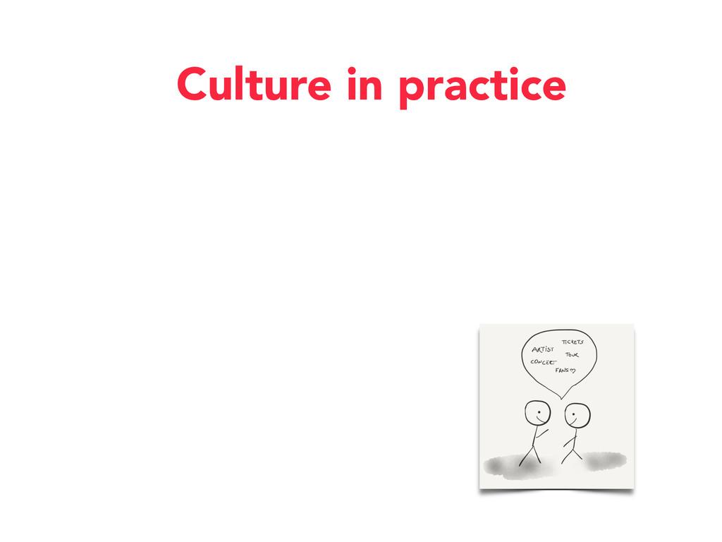 Culture in practice