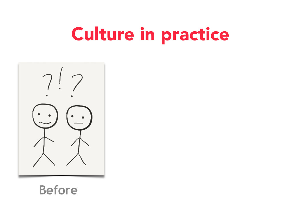 Before Culture in practice
