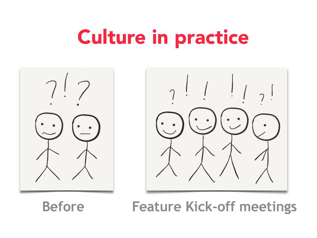 Feature Kick-off meetings Before Culture in pra...