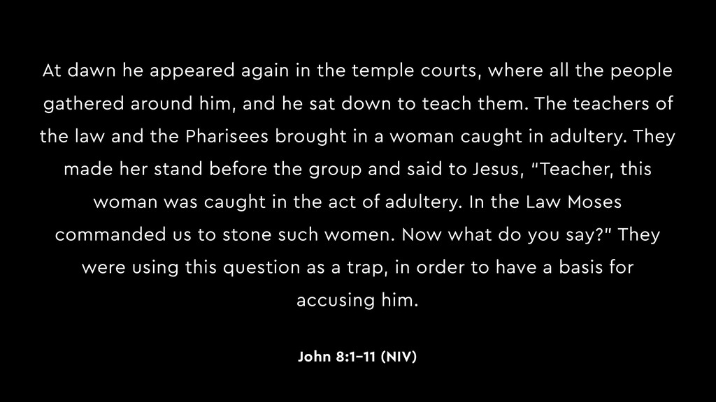 At dawn he appeared again in the temple courts,...