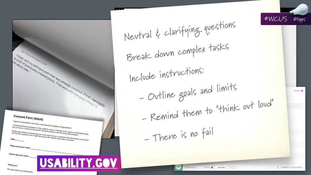 HOW? USABILITY.GOV Neutral & clarifying questio...