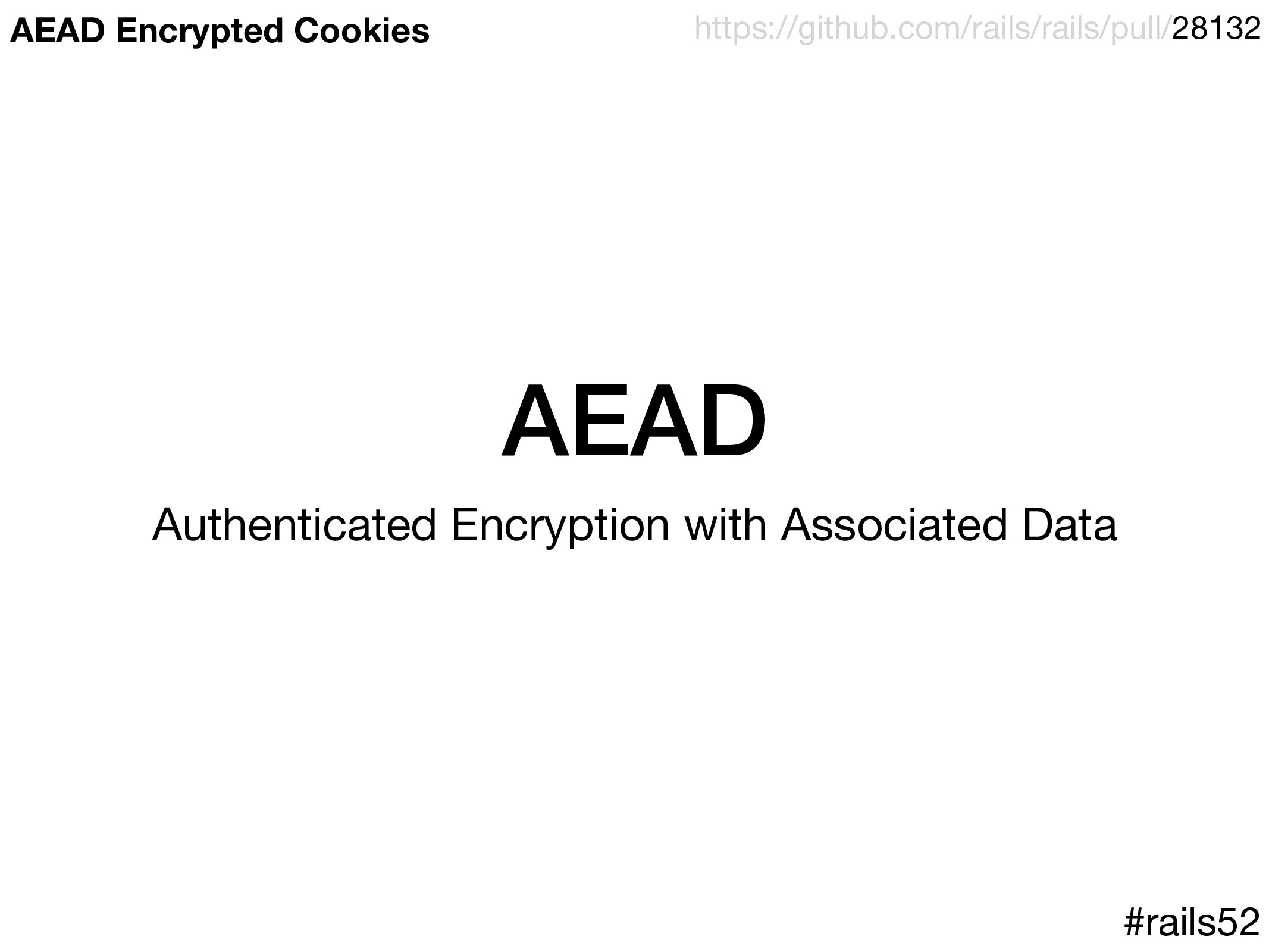AEAD Authenticated Encryption with Associated D...