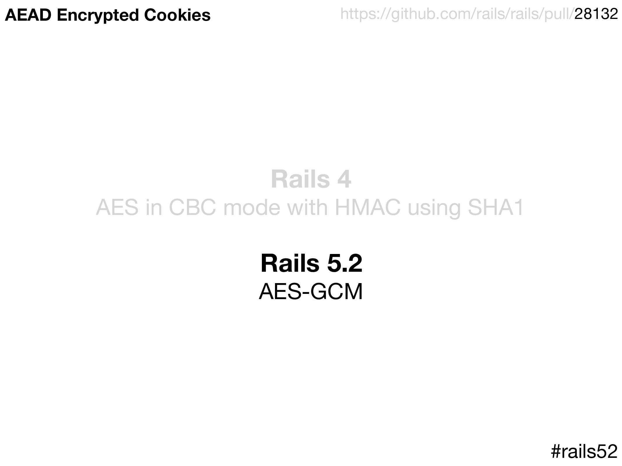 Rails 4 AES in CBC mode with HMAC using SHA1  R...