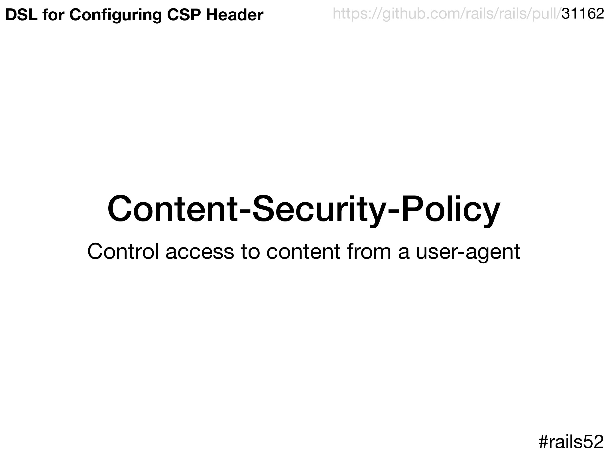 Content-Security-Policy Control access to conte...