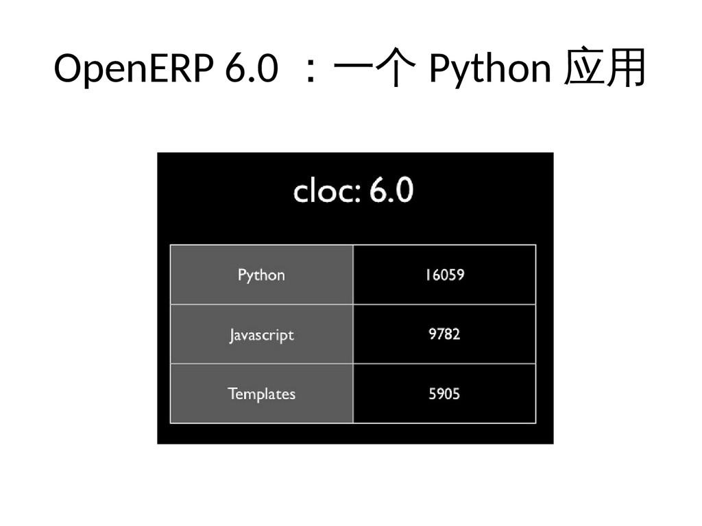 OpenERP 6.0 :一个 Python 应用