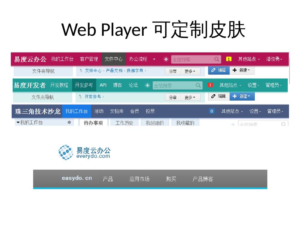 Web Player 可定制皮肤