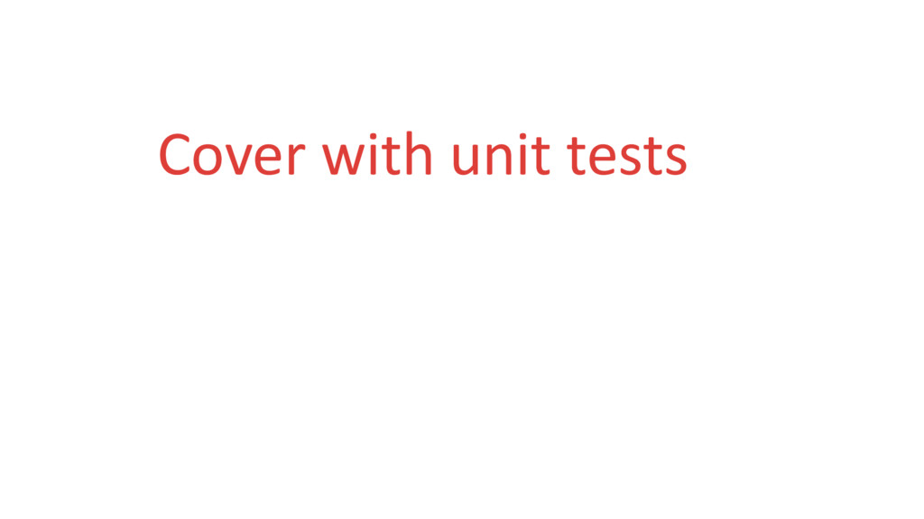Cover with unit tests