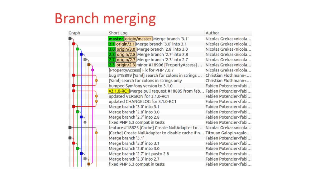 Branch merging