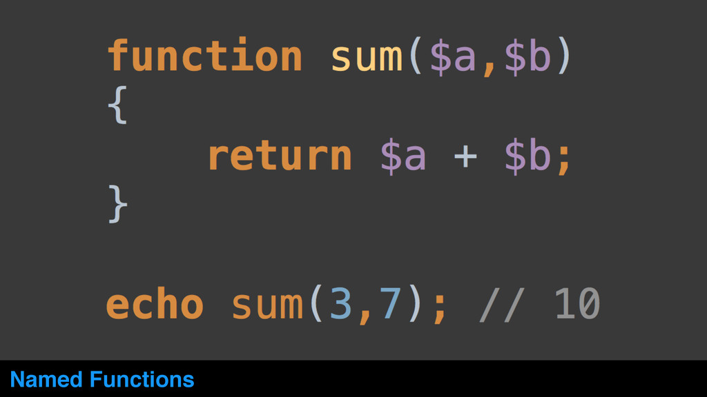 Named Functions