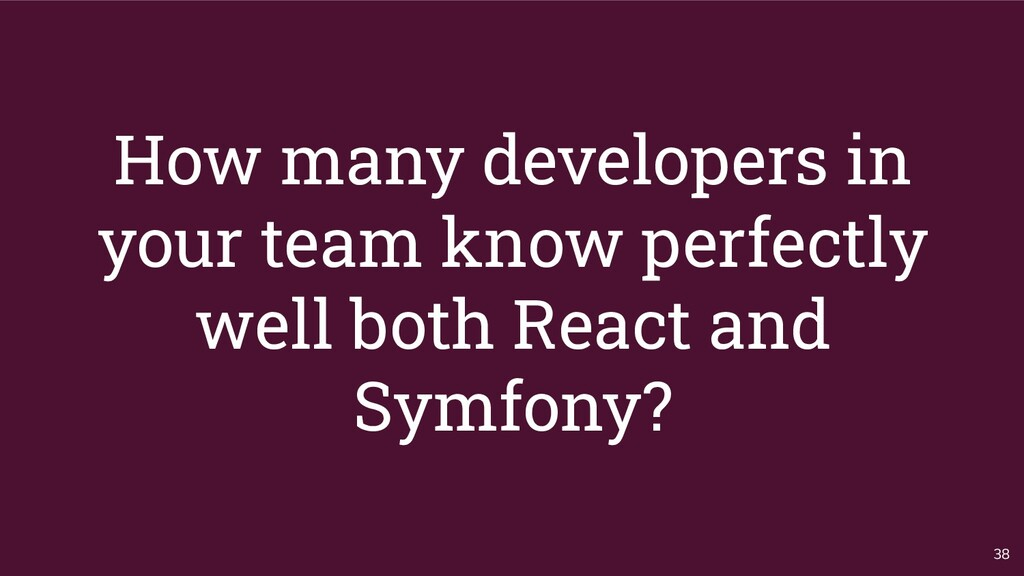 How many developers in your team know perfectly...