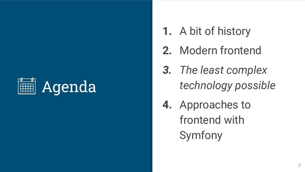 Agenda 1. A bit of history 2. Modern frontend 3...