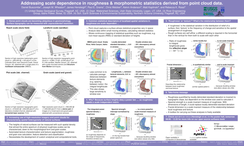Addressing scale dependence in roughness & morp...